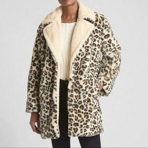 NWOT Gap Faux Fur Cheetah Jacket